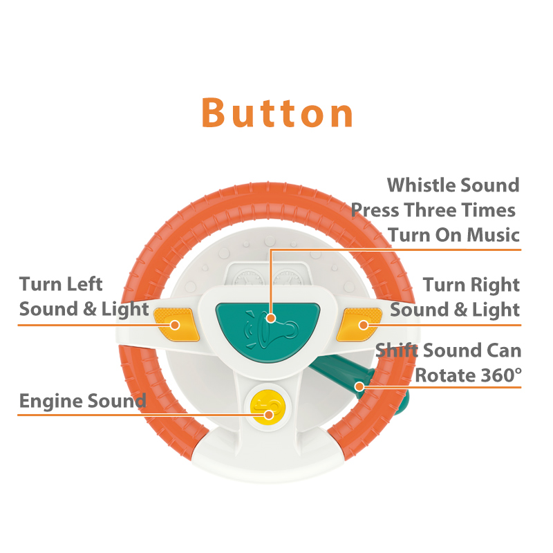 Baby Kids Eletric Simulation Steering Wheel Musical Developing Educational Toys Car Seat Early Education Sounding Infant Kid Toy 5
