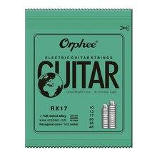 Orphee RX17(010-046) отличные яркие тона и нормальный светильник Электрогитары набор струн 6 шт./компл. Аксессуары для гитары