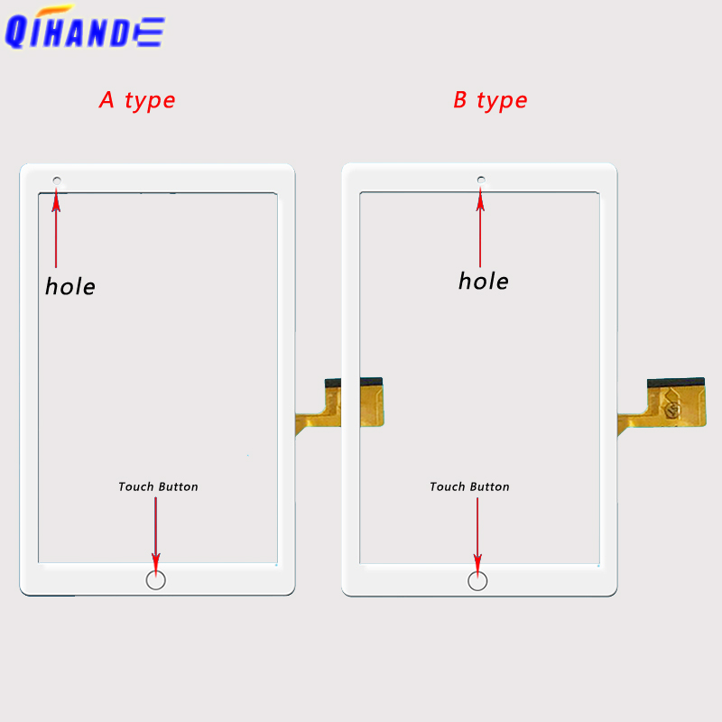New Tablet Touch For 10.1'' Inch ZONNYOU Kt107 / Kt107_v01 Tablet Capacitive Touch Screen MID Outer Digitizer Glass Panel