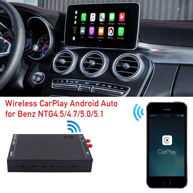 רכב רדיו שדרוג אלחוטי apple carplay ממשק תיבת עבור מרצדס C class W205 GLC X253 dvd מולטימדיה אנדרואיד אוטומטי מפענח