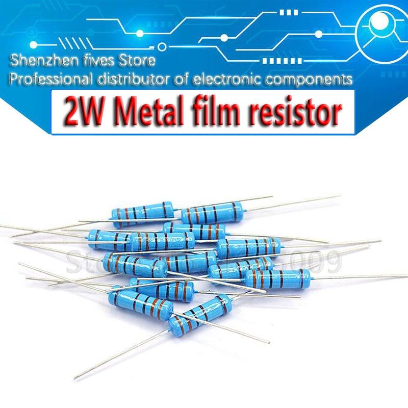 20 шт. 2 Вт металлический пленочный резистор 1% 1R ~ 1 м 2.2R 4.7R 10R 22R 47R 100R 220R 470R 1 к 10 к 100 к 2,2 4,7 10 22 47 100 220 470 Ом