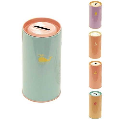 Mignon cylindre en métal écologique Animal impression cadeau créatif tirelire en fomre de cochon tirelire étain pièce dessin animé Zoo tirelire