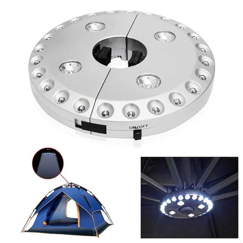 28 LED Light F5 Straw Hat LED Lamp Battery Powered Portable Camping Tent Light Umbrella Pole Light Outdoor Emergency Light
