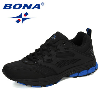 BONA New Designer Popular Athletic Shoes Outdoor Sports Walking  Shoes Male Leather Jogging Sneakers Sapatos Running Shoes 2