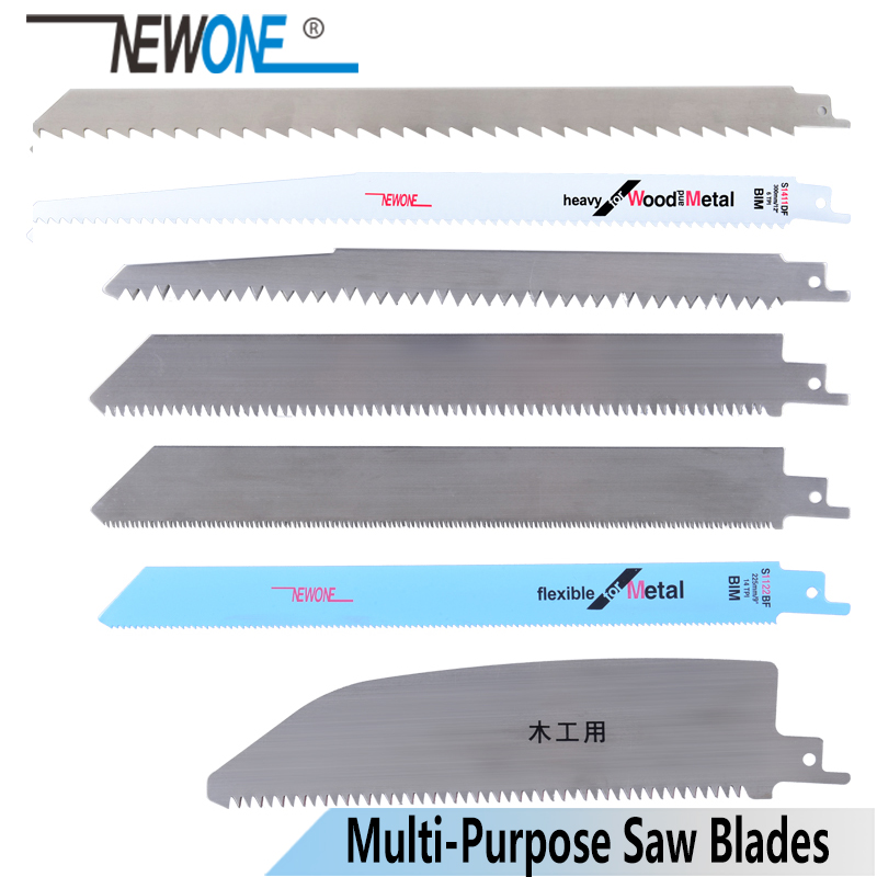 NEWONE Stainless Steel/BIM Reciprocating Saw Blade Hand Saw Saber Saw Blades For Cutting Wood/Meat/frozen-Meat/Bone/Metal
