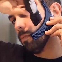 Портативная Мужская Расческа для бороды практическая стрижка инструмент щетка для усов