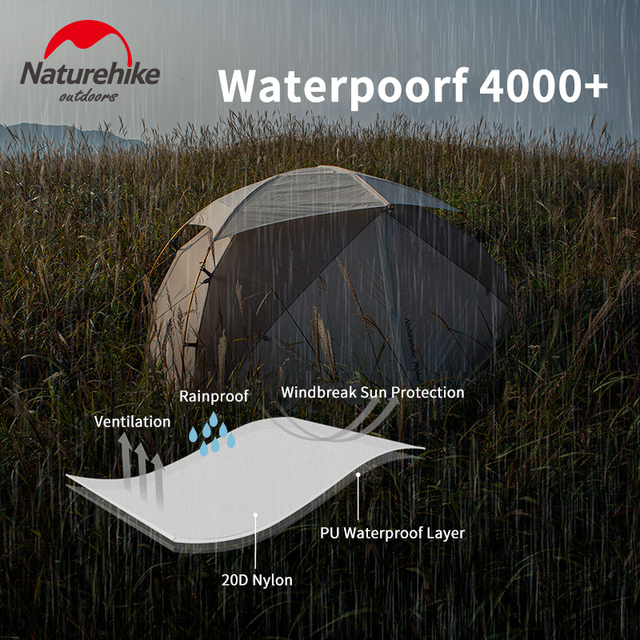 Naturehike 2019 Version Nebula 2 Tent Ultra-light Double Resident Tent Camping For Wind Rain Cold And Blizzard Wild Camping Tent 5