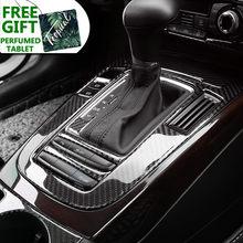 Araba Styling konsol vites dekorasyon çerçeve karbon Fiber vites paneli çıkartmalar Trim için Audi A4 B8 Q5 A5 oto aksesuarları