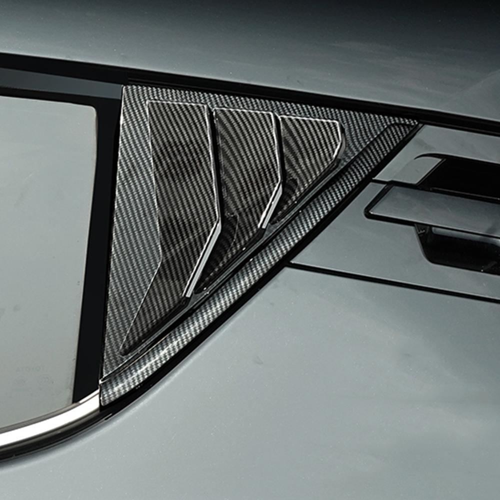 Carbon Fiber Rear Door Triangle Trim Cover For Toyota CHR 2018 Rear Car Door Pillar Sticker