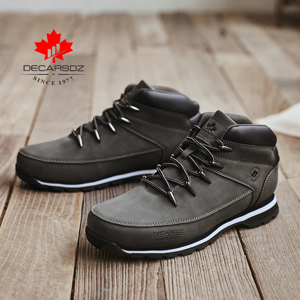 DECARSDZ Men Casual Boots 2021 New Men Fashion Shoes Man Brand Lace-up Winter Boots Men winter Boot Shoes Man Shoes Men's Boots 2