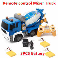 2019 nouveau haute Simulation télécommande mélangeur camion auto-déchargement saleté ciment bétonnière remuer rotatif RC camion avec lumière