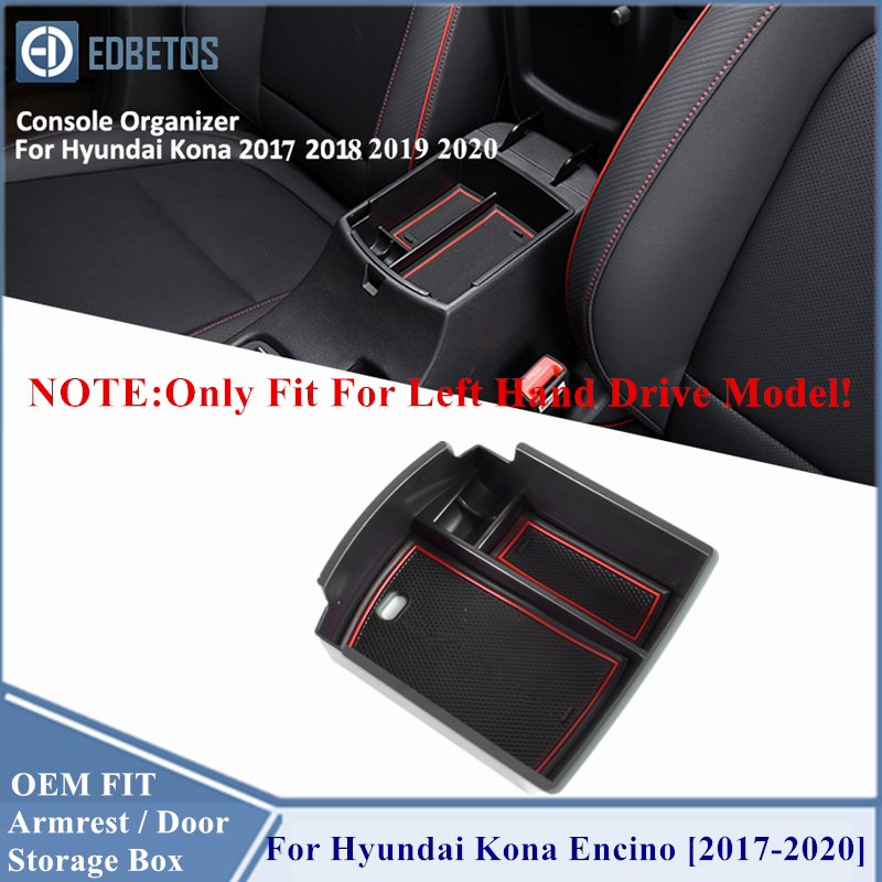 HERCHR Refit Armrest Storage Box for Hyundai KONA Central Interior Compartment Storage Box Accessories