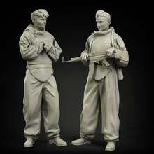 1/35 Resin Figures Model GK Kits 2 soldier Unassambled Unpainted 807(China)