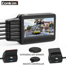 Conkim New K2S Dash Cam 2 Cameras 1080P Full HD With GPS + WIFI Speed Cam Novatek Car DVR Super Capacitor K1S Upgrade Version s560 novatek car dvr hd 1080p 30fps 2 7tft lcd