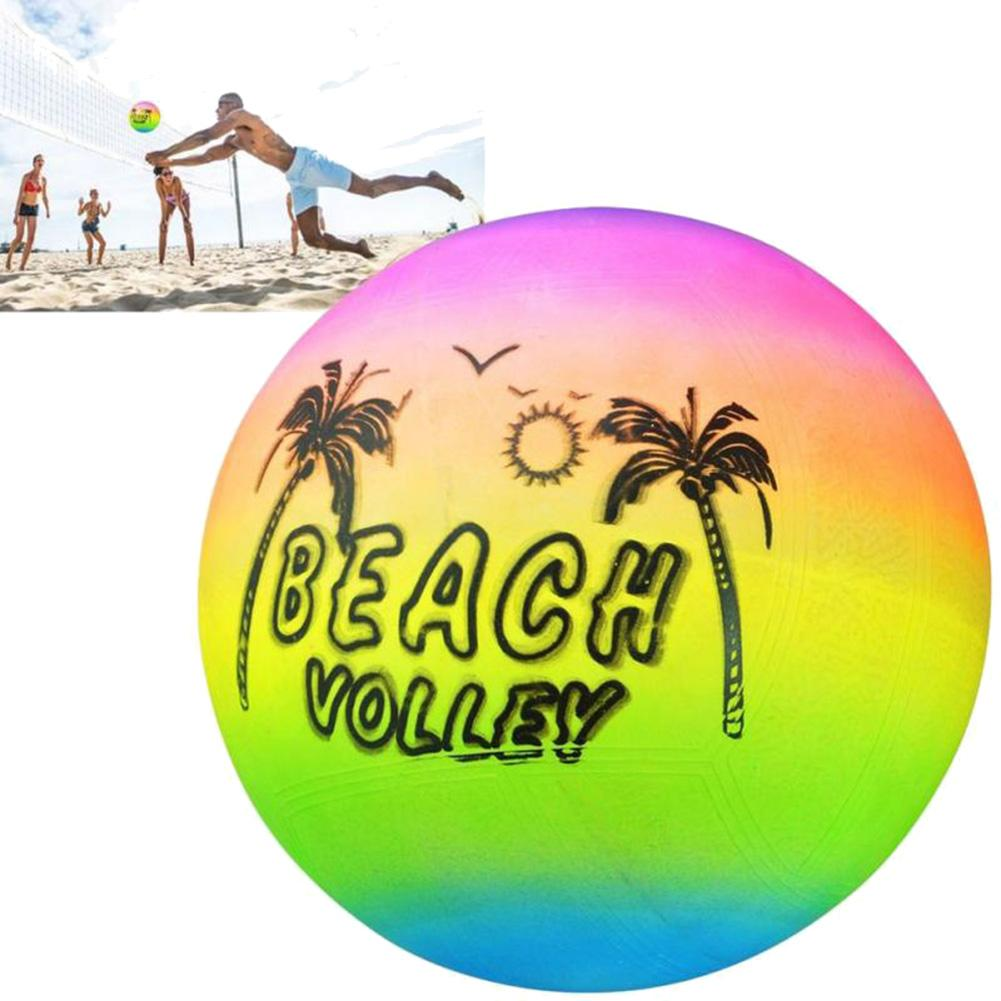 Soft Volleyball Professional Summer Beach Park Inflatable Ball Rainbow Volleyball Game Kids Children Toy Outdoor Safe Ball Toys