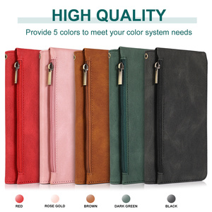 Image 5 - Luxury Zipper Wallet Case For Samsung Galaxy S21 S20 FE S10E S9 Ultra Plus Note 20 10 9 Leather Card Flip Stand Phone Bag Cover