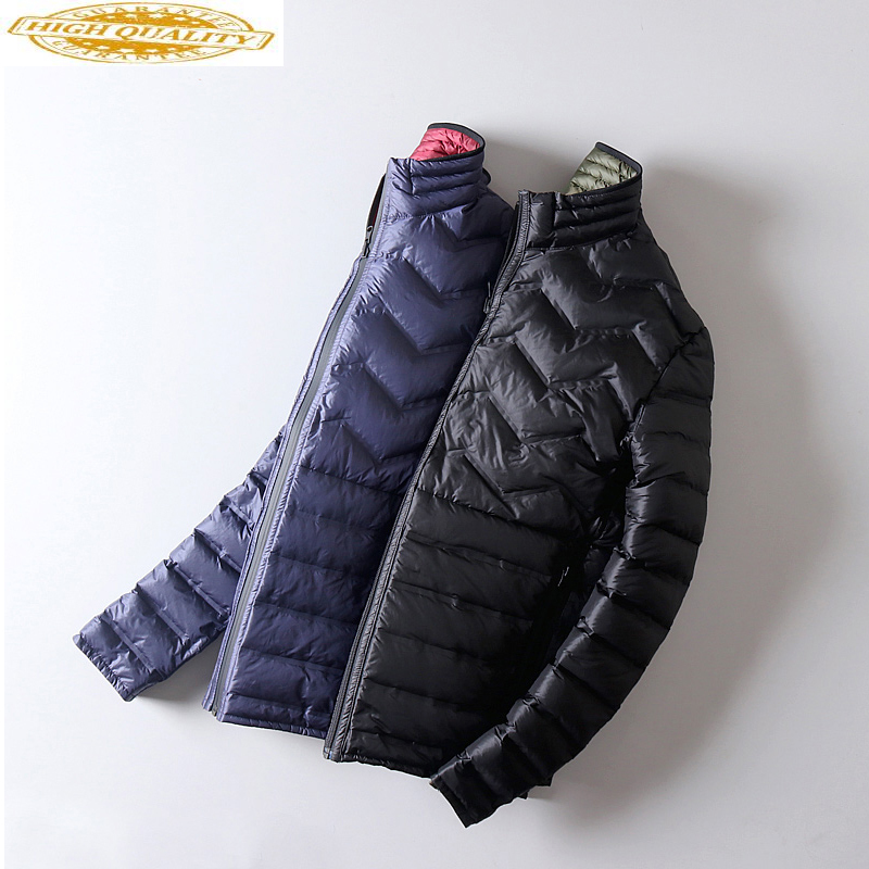 Ultra Light Down Jacket Men Double-sided Wear Thin Autumn Winte Jackets For Men Puffer Coat Abrigos Para Hombre KJ791