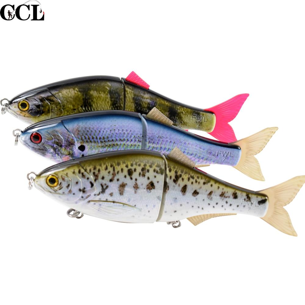 6inch 7inch Fishing Lure Swimbait Bait Crankbait  Hair Tail Shad Vivid Fish