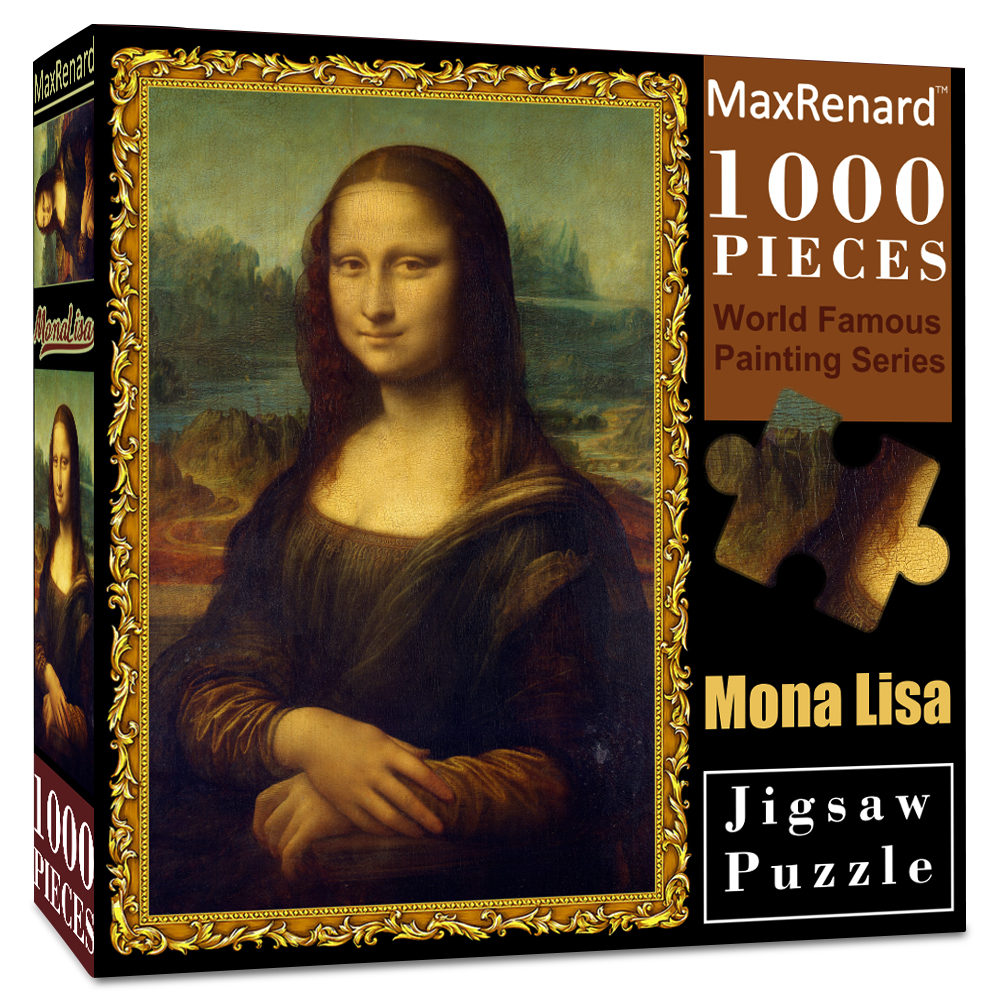 MaxRenard Jigsaw Puzzles 1000 Pieces 50*70cm The Kiss Wooden Assembling Painting World Masterpiece Puzzles Toys for Adults Games 24