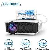 Мини LED проектор TouYinger T4, портативный HDMI проектор 1280x720, USB домашний кинотеатр, опциональная поддержка проводной синхронизации дисплея для телефонов и планшетов