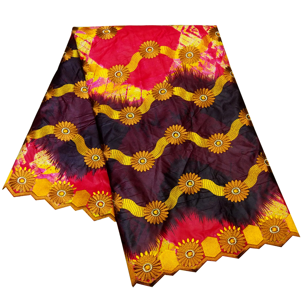 2019 New Arrival African Bazin Riche Embroidery Women DIY Getzner Fabrics