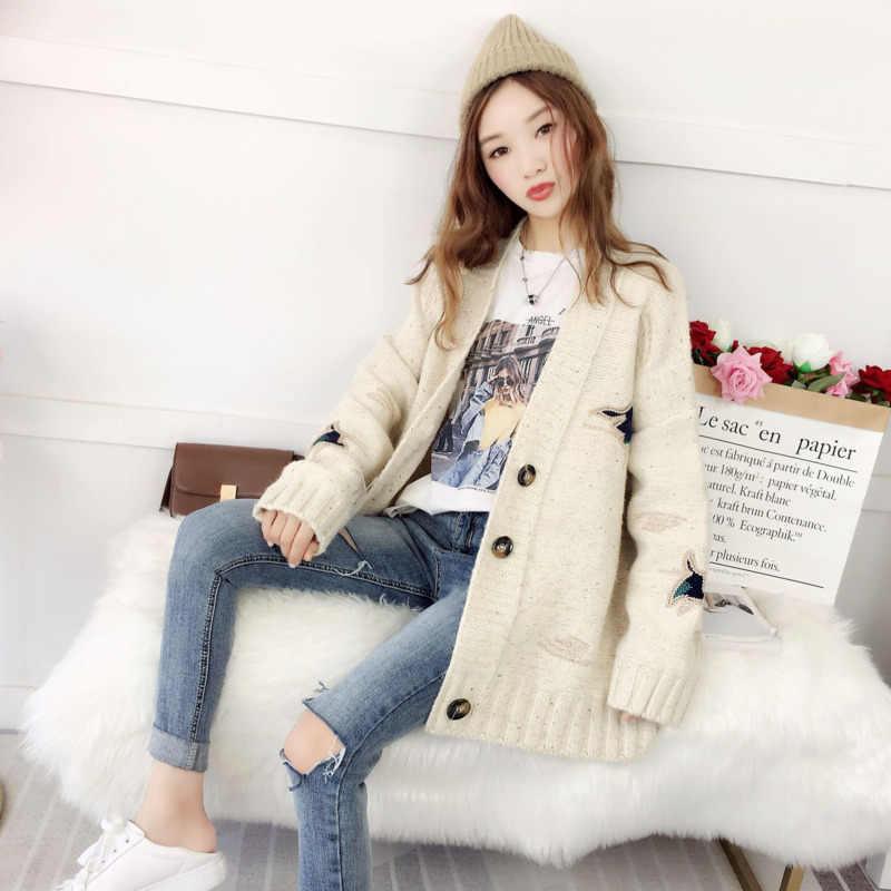 2019 женский свободный модный кардиган пальто Tide Befree Vadim джемпер Sueter Mujer осенне-зимняя одежда дамские свитера свитер ins