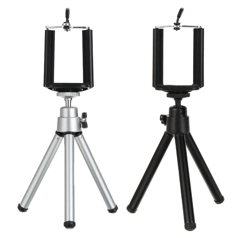 Universal Professional Clip With Aluminum Tripod Mount 360 Degree Rotatable For Mobile Smart Phone Holder Stands Accessory