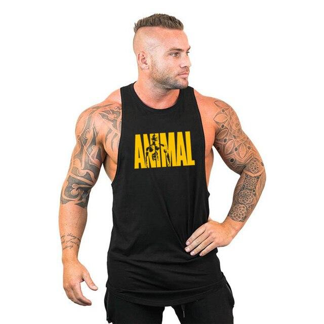 New Gyms Tank Top Summer Brand Cotton Sleeveless Shirt Casual Fashion Fitness Stringer Tank Top Men bodybuilding Clothing M-XXL 2