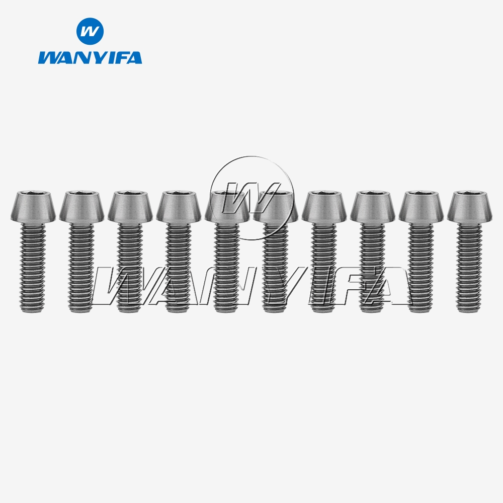 10Pcs <font><b>M6x20mm</b></font> <font><b>Titanium</b></font> Ti Bolt Tapered Head Screw Bolts for Bike Bicycle V-BRAKE & DISC BRAKE image