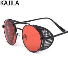 Luxury Designer Retro Steampunk Sunglasses for Men Metal Clout Goggles Vintage Sun Glasses Personality 66247