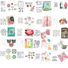 Bulb Flowers Jellyfish Poodle Robot 3D Box Cutting Dies ODies For DIY Scrapbooking Paper Cards Making Crafts Diecuts 08(China)