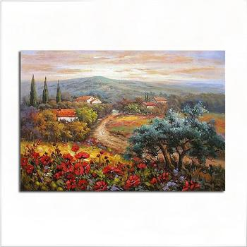Hand Painted Oil Painting Countryside Landscape Painting Modern Home Wall Decoration No stretched