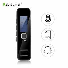 Kebidumei Mini dijital ses kaydedici ses kalem 20 hour ses kayıt ses aktif telefon kaydı MP3 çalar kulaklık