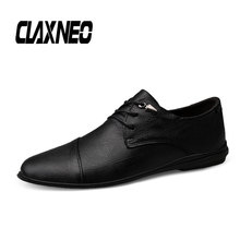 CLAXNEO Man Leather Shoes Genuine Spring Autumn Male Dress Shoe Design Mens Walking Footwear clax Formal