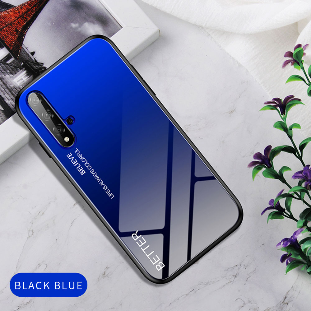 H52fbcc6fe52640cba9bba4448ffb7a01E Phone Case for Huawei Honor 20s 20 Case Marble Tempered Glass Soft Tpu Frame Back Case for Huawei Honor 20s Honor 20 Pro Case