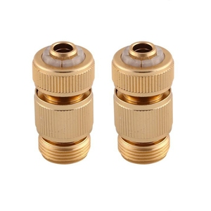 2 Pcs / Set 4 Points Garden Water Pipe 1/2 Pure Copper Quick Water Connection