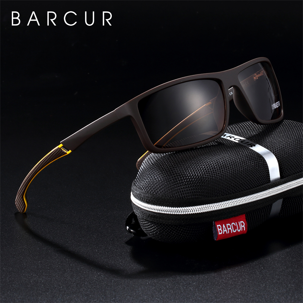 BARCUR Men Sunglasses Polarized Sport Eyewear UV400 Male Sun Glasses for Men Gafas de sol