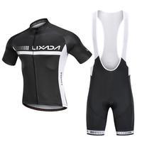 Lixada 2019  набор Джерси для велоспорта  короткий рукав  рубашка для велоспорта  дышащий Мягкий комбинезон  шорты  летний MTB  для езды на велосипе...