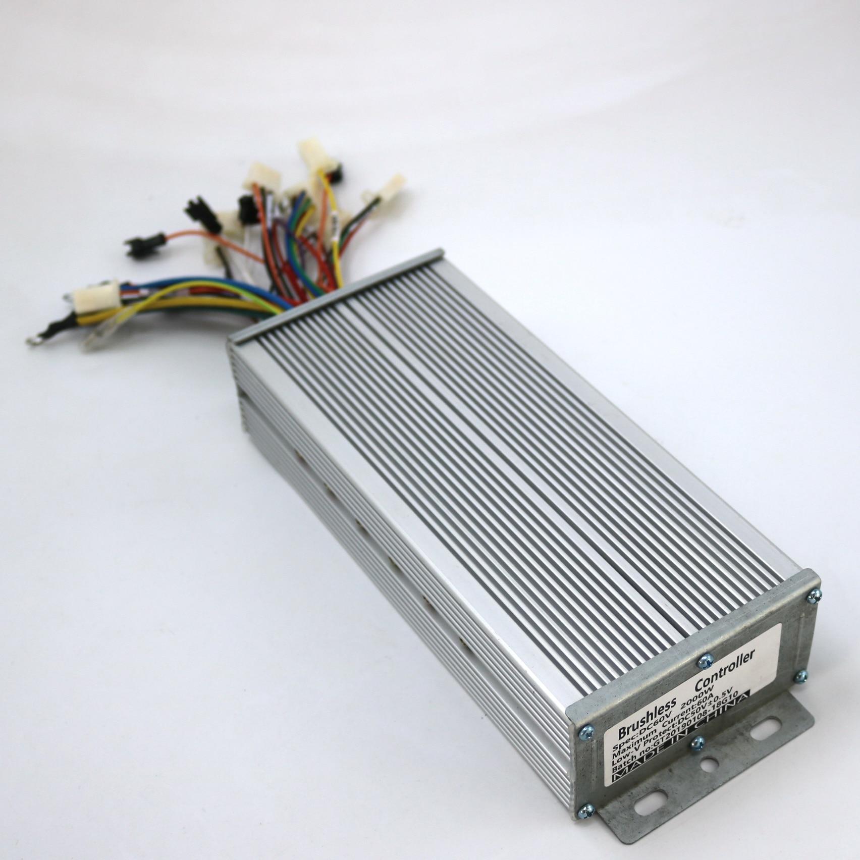 48V-72V 2000W 60A Max Dual Mode Sensor Sensorless Brushless DC Controller Ebikes