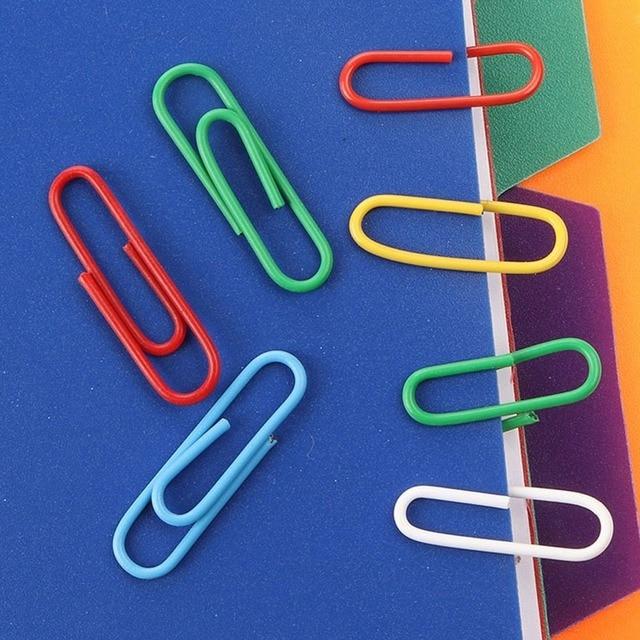 Фото 200 шт цветные зажимы для бумаги офисные принадлежности зажим цена