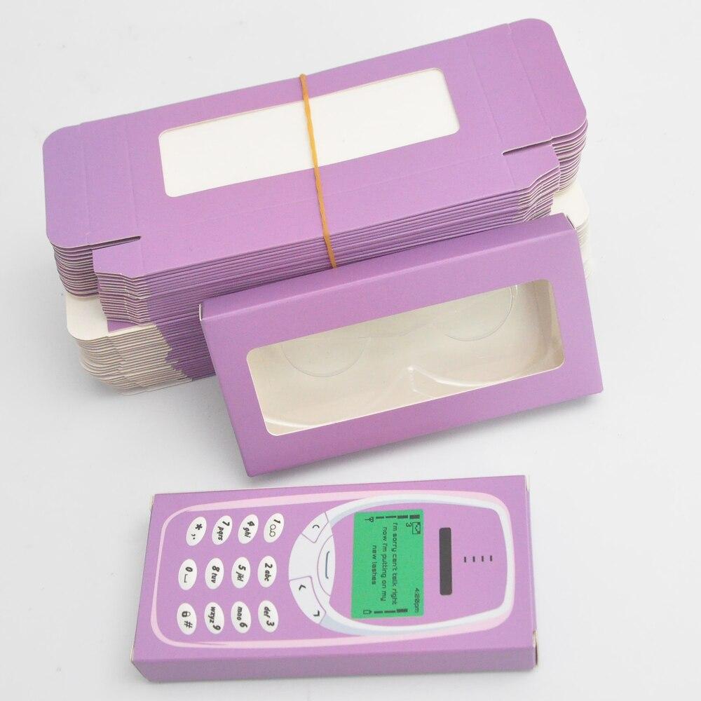 caixas de cílios de embalagem do falso