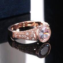 Женские свадебные кольца ustar большие обручальные из розового