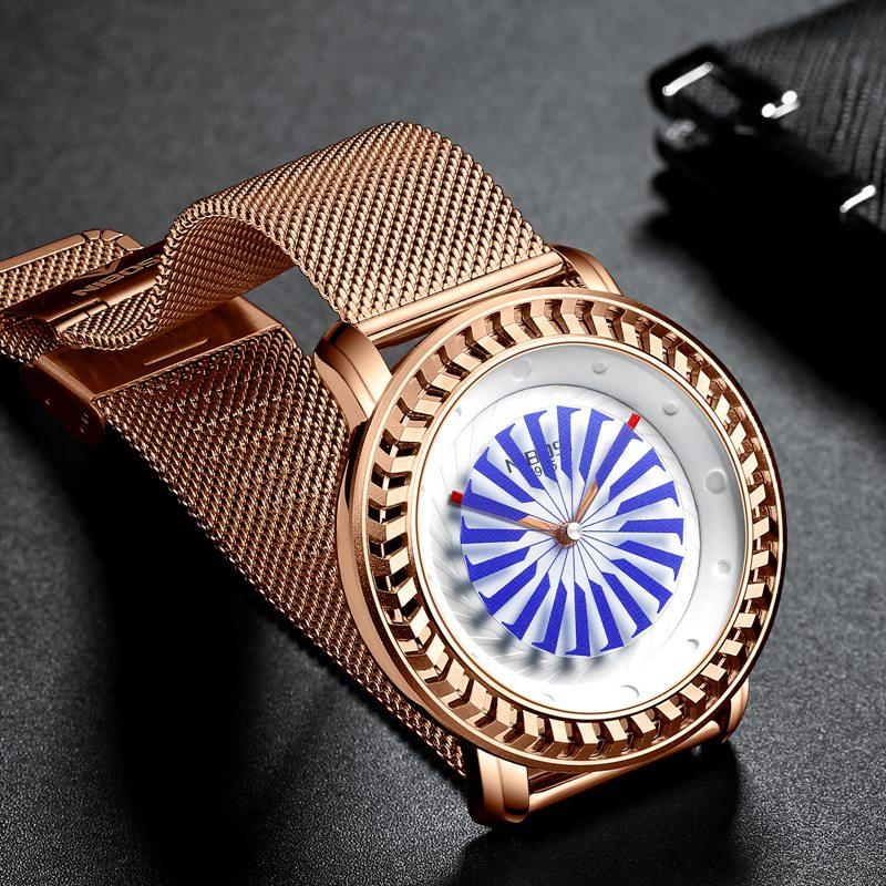 NIBOSI montre de mode hommes Unique cadran mouvement étanche maille bracelet montres pour hommes Quartz sport montre Relogio Masculino - 2
