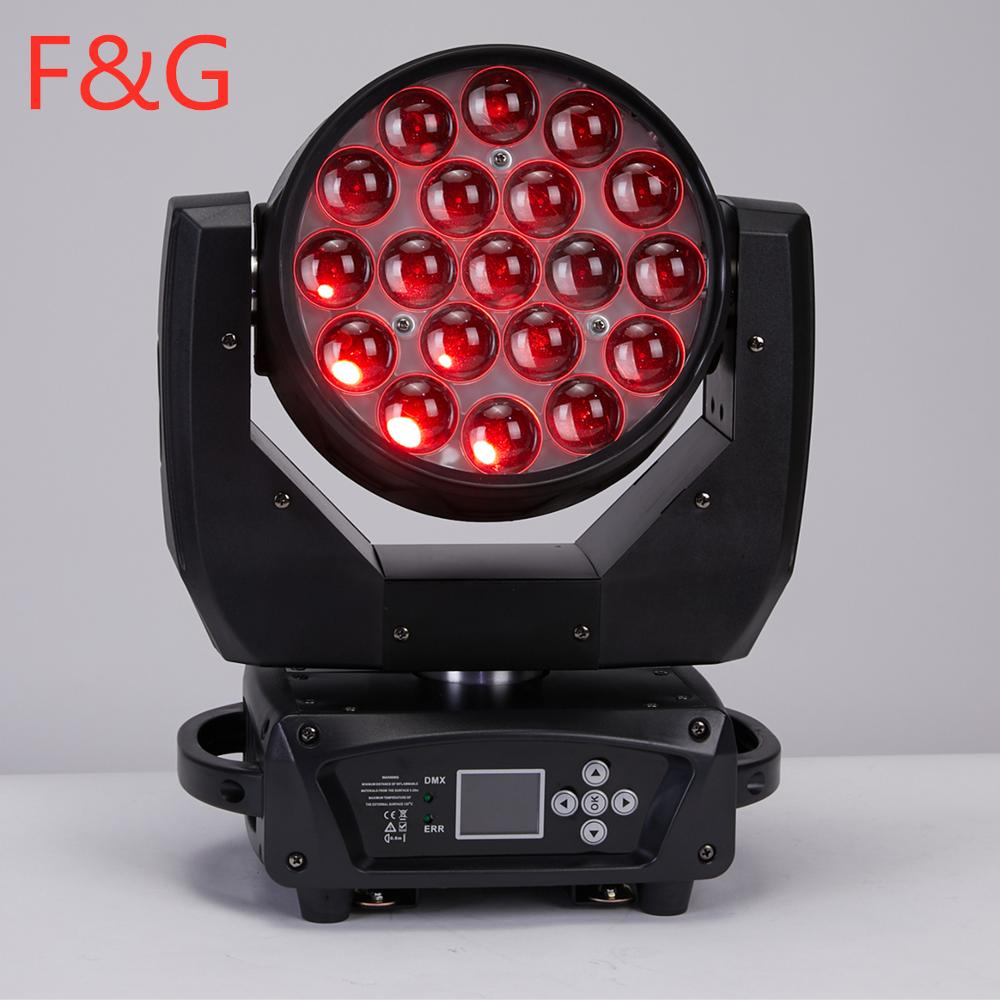 F&GFree Shipping Focus Control LED Moving Head 19x15W Zoom RGBW 4in1 Wash Zoom Lyre Perfect For Clubs Concert Productions DJ Dis