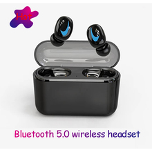 цены TWS Bluetooth 5.0 Earbuds Wireless Sports Handsfree Bluetooth Headset Stereo Waterproof Earphones Gaming Headset Charging BOX