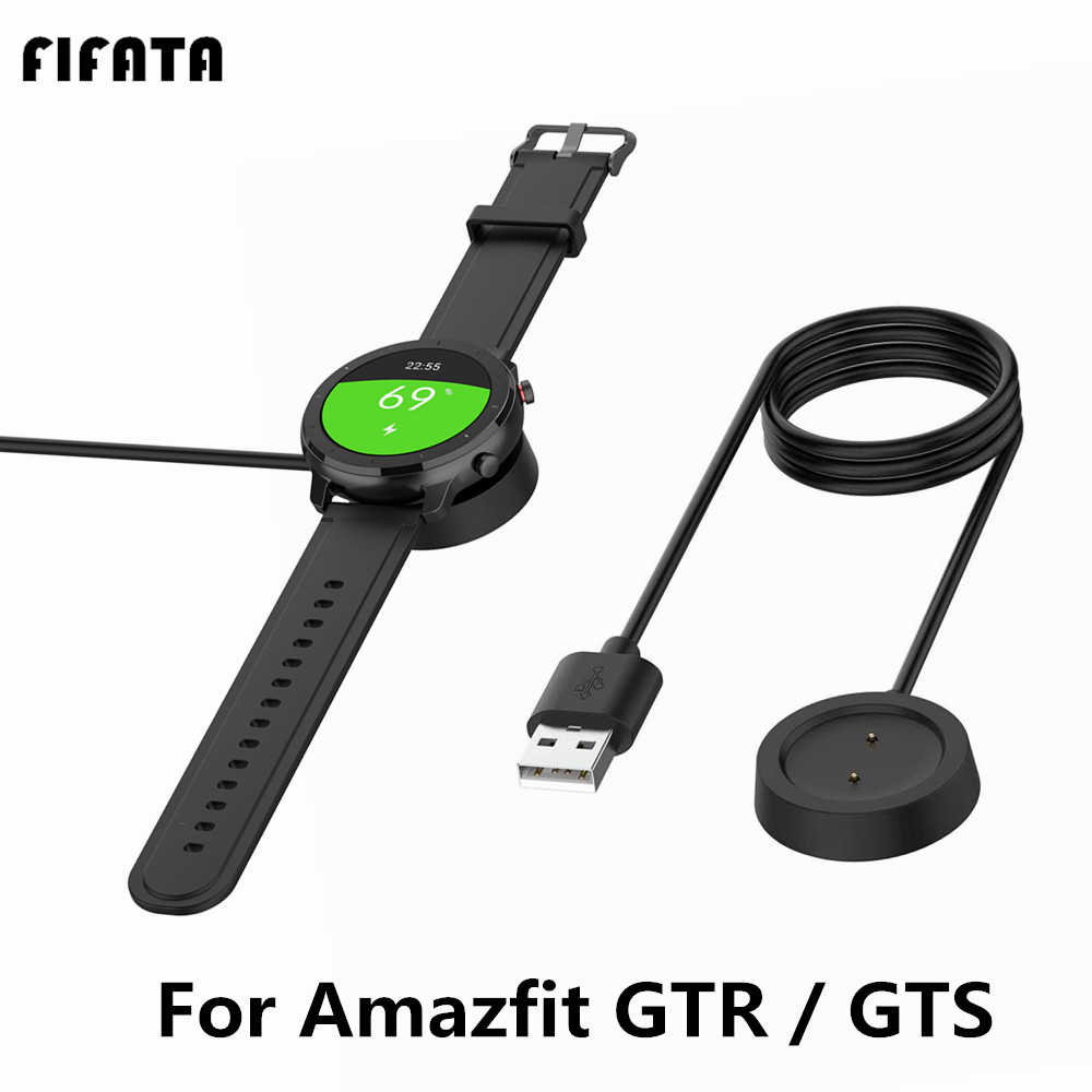 FIFATA USB Charger Cradle For Xiaomi <font><b>Huami</b></font> <font><b>Amazfit</b></font> GTR 47mm 42mm GTS <font><b>Charging</b></font> Dock Base Smart Watch Power Cable 1m Data Wire image
