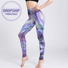Быстросохнущие женские штаны для йоги, для тренировок, с принтом, леггинсы для спортзала, для бега, фитнеса, тренировок, эластичные сексуальные длинные колготки, брюки для танцев