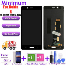 """For Nokia 8 N8 TA 1012 LCD Display + Touch Screen Digitizer Assembly Replacement For Nokia8 TA 1004 TA 1052 5.3"""" LCDs Screen"""