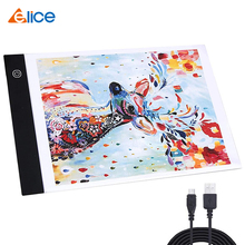 A4 Ultra-Thin Portable LED Light Box Tracer USB Power LED Artcraft Tracing Light Pad Light Box for Artists,Drawing, Sketching 1pcs a4 ultra thin portable usb power led light pad with line tracing copy board light box stencil for drawing painting