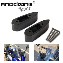 Motorrad Lenker Montieren Spiegel Riser Extender Extensions Adapter Kit Für Yamaha YZF R3 YZF R25 YZF R3 R25 2014 2015 16 18